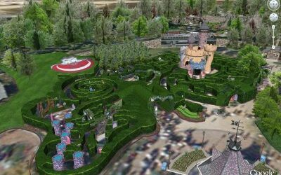 Visit Disneyland Paris Via Google Earth