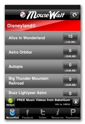 Get Accurate Disneyland Wait Times & More With New iPhone App