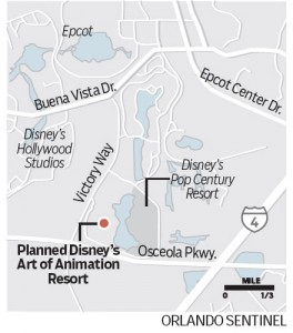 "Walt Disney World to Build New Hotel Dubbed ""Disney's Art of Animation Resort"""