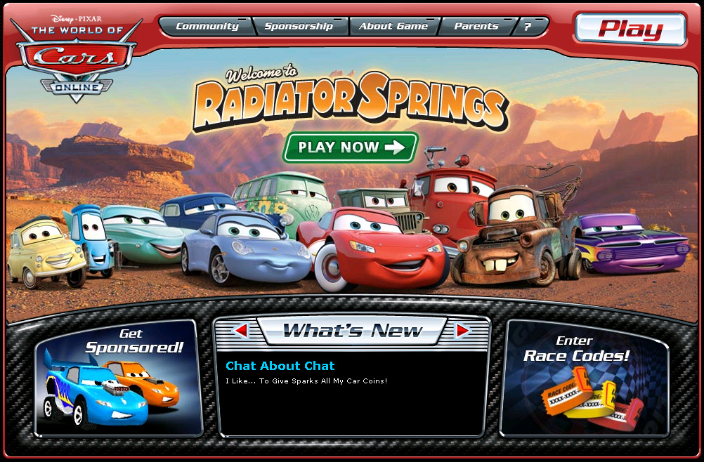 "Disney Releases 5th Online Community – ""World of Cars"""