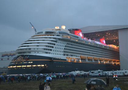 Disney Dream Floats Out of Meyer Werft Dock For First Time
