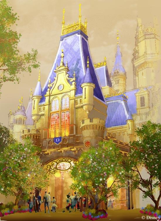 Sneek Peek at Enchanted Storybook Castle at Shanghai Disneyland
