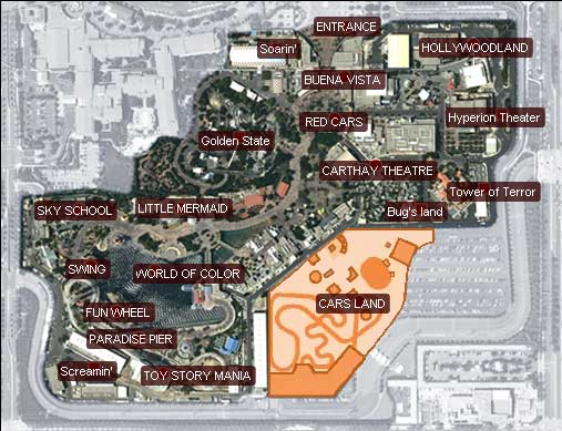 Map Of California Disney.Interactive Map Of The New California Adventure Disney O Rama