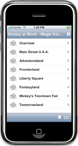 Disney at Work: Magic Kingdom App on iPhone
