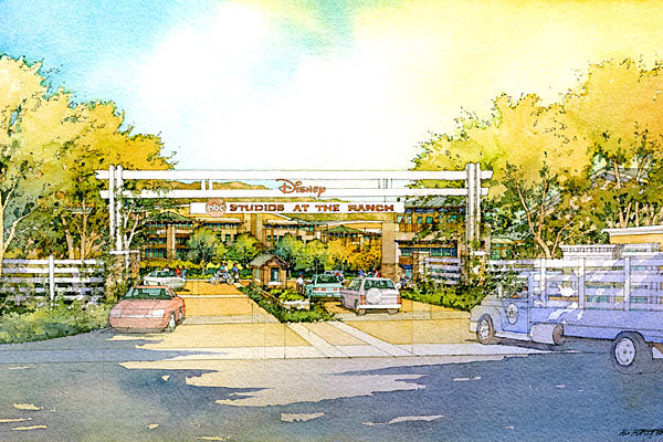 Proposed entrance for the Disney/ABC Studios at the Ranch