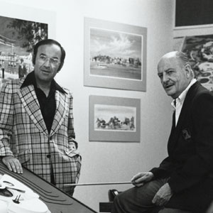 Marty Sklar and close friend and mentor John Hench